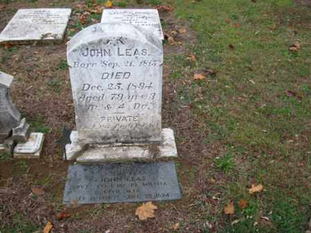 LEAS (CW), JOHN - Lehigh County, Pennsylvania | JOHN LEAS (CW) - Pennsylvania Gravestone Photos