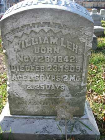 LEH, WILLIAM - Lehigh County, Pennsylvania   WILLIAM LEH - Pennsylvania Gravestone Photos
