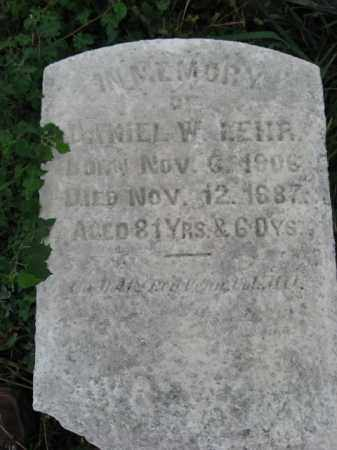 LEHR, DANIEL W. - Lehigh County, Pennsylvania | DANIEL W. LEHR - Pennsylvania Gravestone Photos