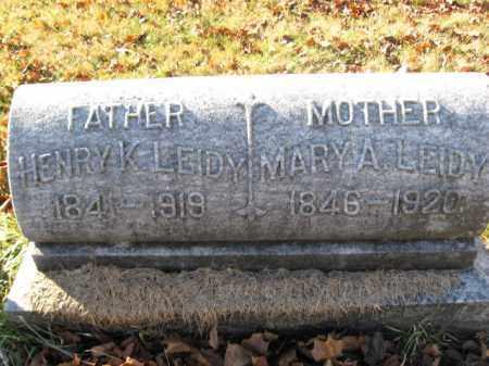 LEIDY, PVT.HENRY K. - Lehigh County, Pennsylvania   PVT.HENRY K. LEIDY - Pennsylvania Gravestone Photos