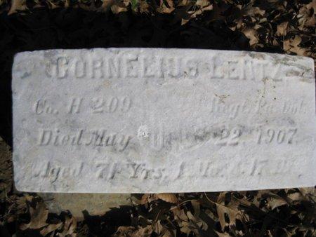 LENTZ (CW), CORNELIUS - Lehigh County, Pennsylvania | CORNELIUS LENTZ (CW) - Pennsylvania Gravestone Photos