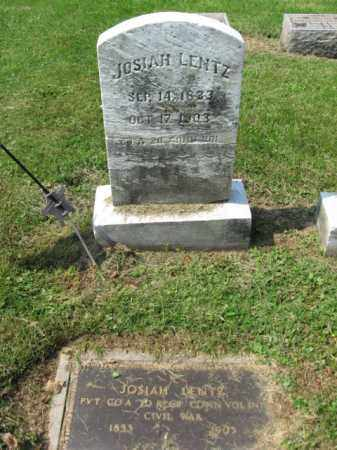 LENTZ, PVT. JOSIAH - Lehigh County, Pennsylvania | PVT. JOSIAH LENTZ - Pennsylvania Gravestone Photos