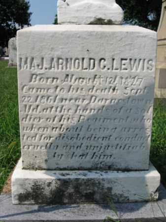 LEWIS, MAJOR ARNOLD COLT - Lehigh County, Pennsylvania   MAJOR ARNOLD COLT LEWIS - Pennsylvania Gravestone Photos