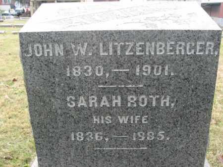 ROTH LITZENBERGER, SARAH - Lehigh County, Pennsylvania | SARAH ROTH LITZENBERGER - Pennsylvania Gravestone Photos