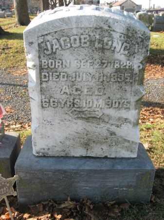 LONG, PVT.JACOB S. - Lehigh County, Pennsylvania   PVT.JACOB S. LONG - Pennsylvania Gravestone Photos