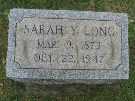 LONG, SARAH Y. - Lehigh County, Pennsylvania   SARAH Y. LONG - Pennsylvania Gravestone Photos