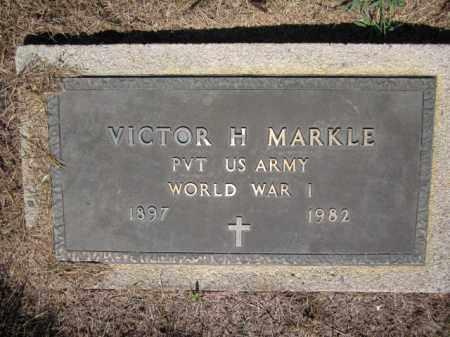 MARKLE (WW I), VICTOR  H. - Lehigh County, Pennsylvania   VICTOR  H. MARKLE (WW I) - Pennsylvania Gravestone Photos