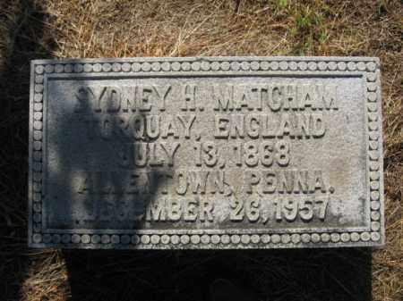 MATCHAM, SYDNEY H. - Lehigh County, Pennsylvania | SYDNEY H. MATCHAM - Pennsylvania Gravestone Photos