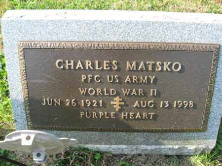 MATSKO, CHARLES - Lehigh County, Pennsylvania | CHARLES MATSKO - Pennsylvania Gravestone Photos