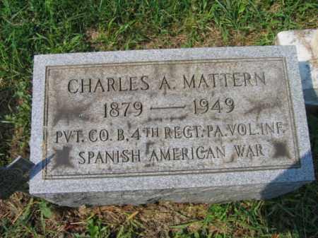 MATTERN, CHARLES A. - Lehigh County, Pennsylvania | CHARLES A. MATTERN - Pennsylvania Gravestone Photos