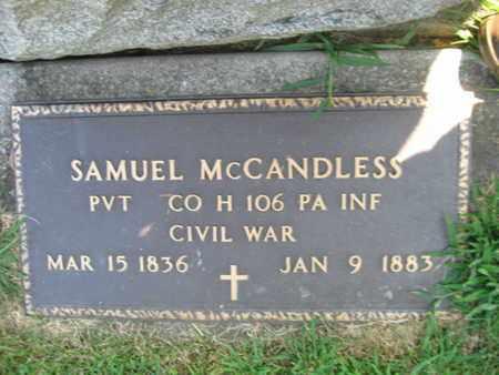 MCCANDLESS (CW), SAMUEL - Lehigh County, Pennsylvania | SAMUEL MCCANDLESS (CW) - Pennsylvania Gravestone Photos