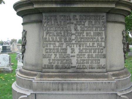 MENNIG (CW), LUTHER - Lehigh County, Pennsylvania   LUTHER MENNIG (CW) - Pennsylvania Gravestone Photos