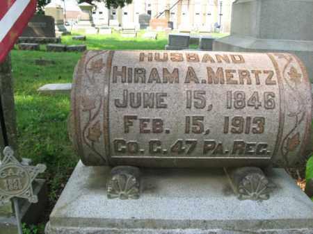 MERTZ, HIRAM A. - Lehigh County, Pennsylvania   HIRAM A. MERTZ - Pennsylvania Gravestone Photos