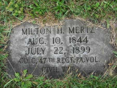 MERTZ, MILTON H. - Lehigh County, Pennsylvania | MILTON H. MERTZ - Pennsylvania Gravestone Photos