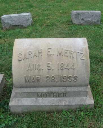 MERTZ, SARAH E. - Lehigh County, Pennsylvania   SARAH E. MERTZ - Pennsylvania Gravestone Photos