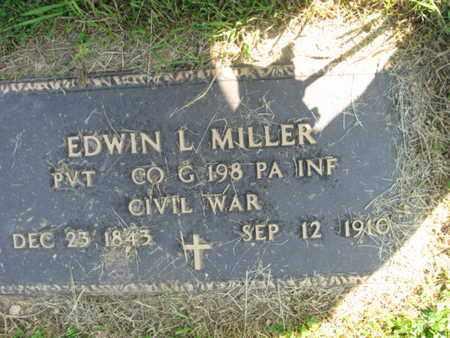 MILLER (CW), EDWIN L. - Lehigh County, Pennsylvania   EDWIN L. MILLER (CW) - Pennsylvania Gravestone Photos