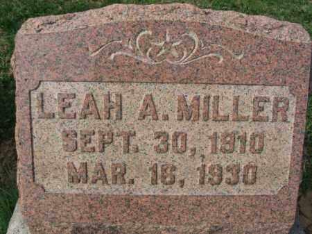 MILLER, LEAH - Lehigh County, Pennsylvania | LEAH MILLER - Pennsylvania Gravestone Photos