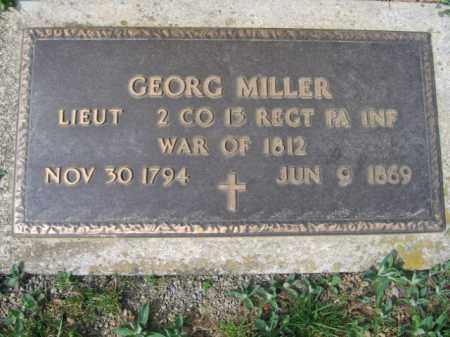 MILLER, LIEUT.. GEORG - Lehigh County, Pennsylvania | LIEUT.. GEORG MILLER - Pennsylvania Gravestone Photos