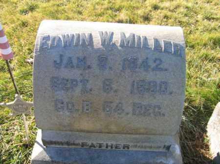 MILLER, PVT.EDWIN W. - Lehigh County, Pennsylvania | PVT.EDWIN W. MILLER - Pennsylvania Gravestone Photos
