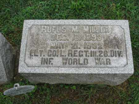 MILLER, RUFUS M. - Lehigh County, Pennsylvania | RUFUS M. MILLER - Pennsylvania Gravestone Photos