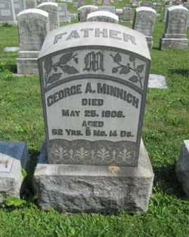 MINNICH, GEORGE A. - Lehigh County, Pennsylvania   GEORGE A. MINNICH - Pennsylvania Gravestone Photos