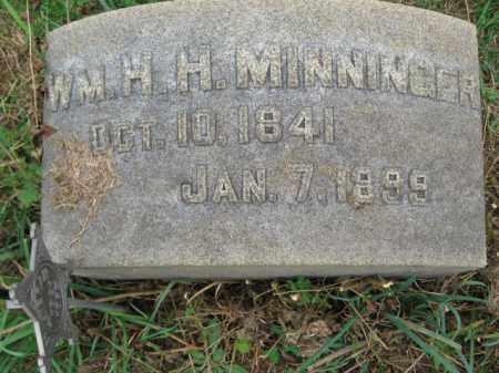 MINNINGER, WILLIAM H.H. - Lehigh County, Pennsylvania | WILLIAM H.H. MINNINGER - Pennsylvania Gravestone Photos