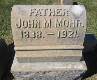 MOHR, JOHN M. - Lehigh County, Pennsylvania | JOHN M. MOHR - Pennsylvania Gravestone Photos