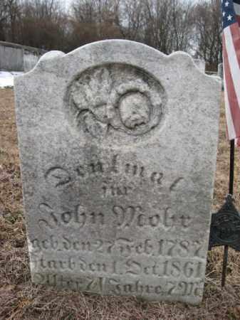 MOHR, JOHN - Lehigh County, Pennsylvania | JOHN MOHR - Pennsylvania Gravestone Photos