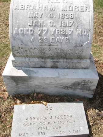 MOSER   (CW), CORP.ABRAHAM - Lehigh County, Pennsylvania | CORP.ABRAHAM MOSER   (CW) - Pennsylvania Gravestone Photos