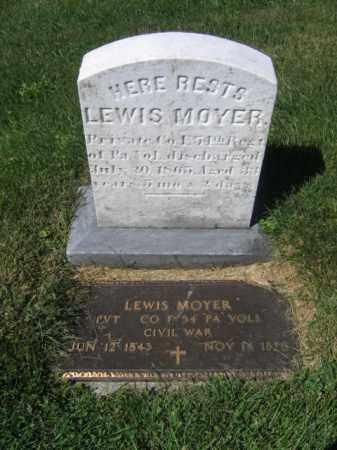 MOYER, LEWIS - Lehigh County, Pennsylvania | LEWIS MOYER - Pennsylvania Gravestone Photos