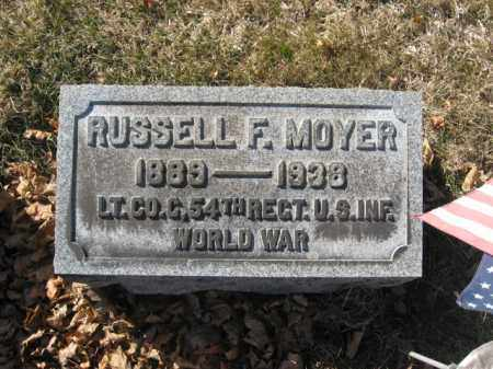 MOYER, RUSSELL F. - Lehigh County, Pennsylvania   RUSSELL F. MOYER - Pennsylvania Gravestone Photos