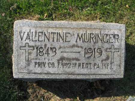 MURINGER, VALENTINE - Lehigh County, Pennsylvania | VALENTINE MURINGER - Pennsylvania Gravestone Photos