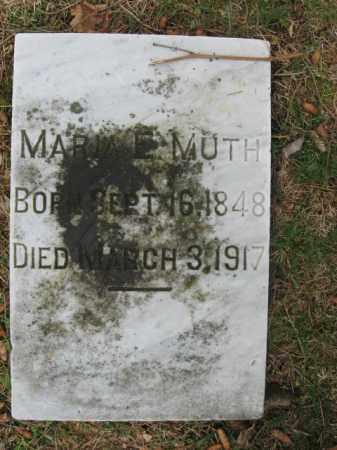 MUTH, MARIA E. - Lehigh County, Pennsylvania | MARIA E. MUTH - Pennsylvania Gravestone Photos