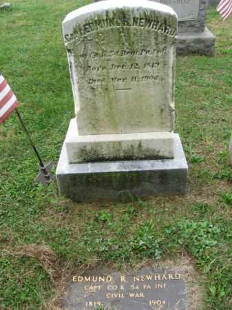 NEWHARD, CAPT. EDMUND R. - Lehigh County, Pennsylvania   CAPT. EDMUND R. NEWHARD - Pennsylvania Gravestone Photos