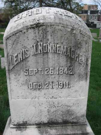 NONNEMACHER, LEWIS M. - Lehigh County, Pennsylvania   LEWIS M. NONNEMACHER - Pennsylvania Gravestone Photos