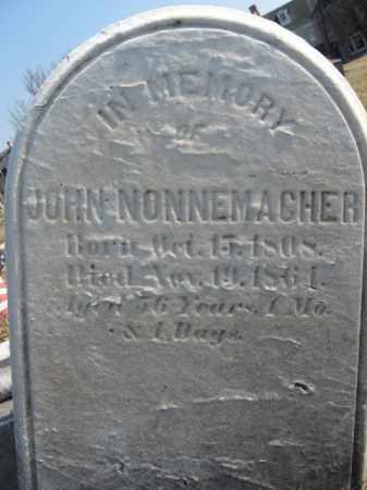 NONNEMACKER   (CW), PVT.JOHN - Lehigh County, Pennsylvania   PVT.JOHN NONNEMACKER   (CW) - Pennsylvania Gravestone Photos