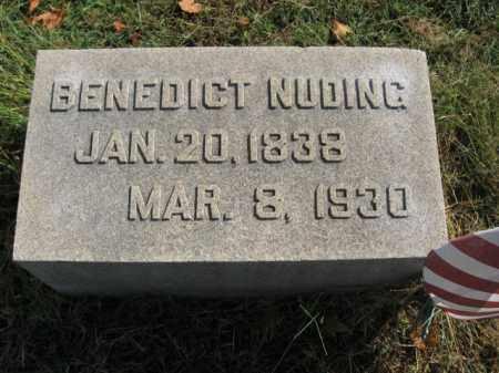NUDING (CW), BENEDICT - Lehigh County, Pennsylvania   BENEDICT NUDING (CW) - Pennsylvania Gravestone Photos
