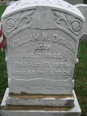 OSMUN, WILLIAM W. - Lehigh County, Pennsylvania   WILLIAM W. OSMUN - Pennsylvania Gravestone Photos