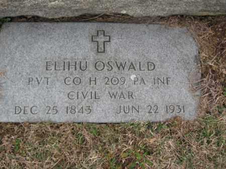 OSWALD   (CW), PVT.ELIHU - Lehigh County, Pennsylvania   PVT.ELIHU OSWALD   (CW) - Pennsylvania Gravestone Photos