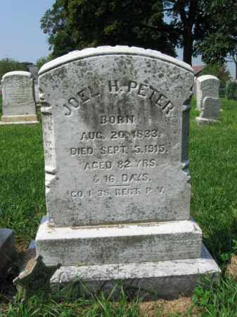 PETER, JOEL H. - Lehigh County, Pennsylvania | JOEL H. PETER - Pennsylvania Gravestone Photos