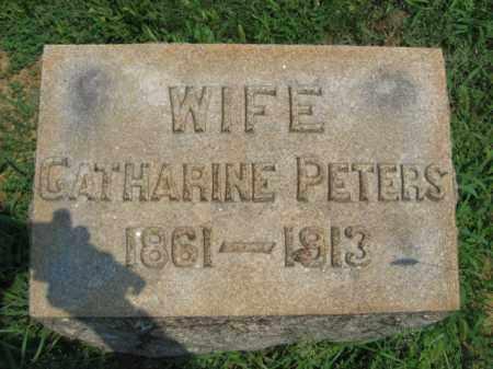PETERS, CATHERINE - Lehigh County, Pennsylvania   CATHERINE PETERS - Pennsylvania Gravestone Photos