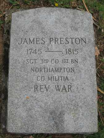 PRESTON (RW), JAMES - Lehigh County, Pennsylvania | JAMES PRESTON (RW) - Pennsylvania Gravestone Photos