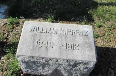 PRETZ, WILLIAM N. - Lehigh County, Pennsylvania | WILLIAM N. PRETZ - Pennsylvania Gravestone Photos