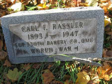 RASSLER, CARL F. - Lehigh County, Pennsylvania   CARL F. RASSLER - Pennsylvania Gravestone Photos