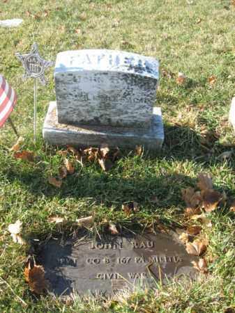 RAU, PVT. JOHN - Lehigh County, Pennsylvania | PVT. JOHN RAU - Pennsylvania Gravestone Photos