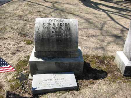 REBER  (CW), PVT. ERWIN - Lehigh County, Pennsylvania   PVT. ERWIN REBER  (CW) - Pennsylvania Gravestone Photos