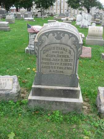 REBER, CHRISTIANA - Lehigh County, Pennsylvania   CHRISTIANA REBER - Pennsylvania Gravestone Photos