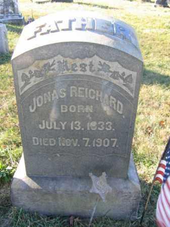 REICHARD, JONAS - Lehigh County, Pennsylvania   JONAS REICHARD - Pennsylvania Gravestone Photos