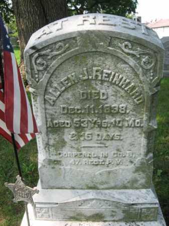 REINHARD, CORP. ALLEN J. - Lehigh County, Pennsylvania | CORP. ALLEN J. REINHARD - Pennsylvania Gravestone Photos