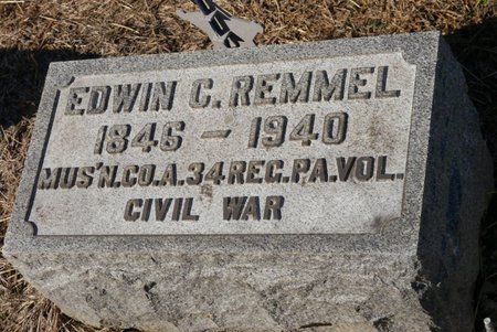 REMMEL (CW), EDWIN C. - Lehigh County, Pennsylvania | EDWIN C. REMMEL (CW) - Pennsylvania Gravestone Photos